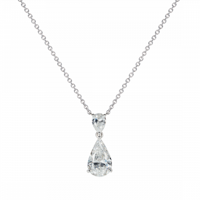 Wallace Pear shape Diamond Pendant