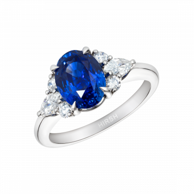 Sapphire and Diamond Papillon Ring