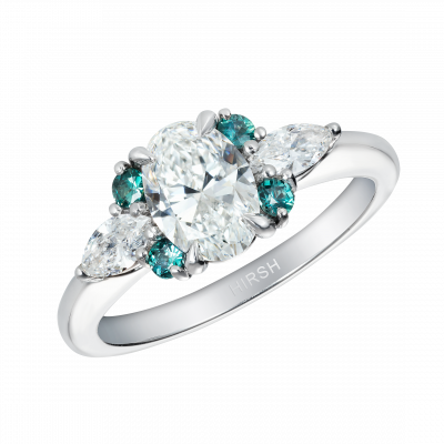 Diamond and Alexandrite Papillon Ring