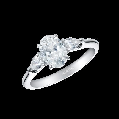 Trio Oval Diamond Ring