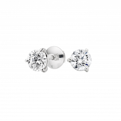 Solitaire Diamond Studs 0.60 carats total