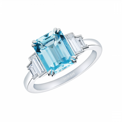 Artemis Aquamarine and Diamond Ring