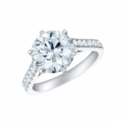 Reflection Round Diamond Ring