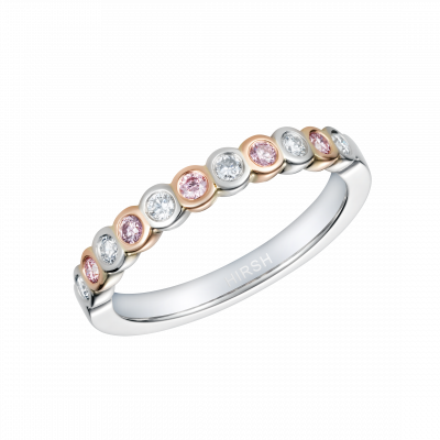 Lifetime Pink and White Diamond Ring