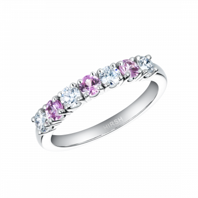 Lifetime Pink Sapphire and Diamond Ring