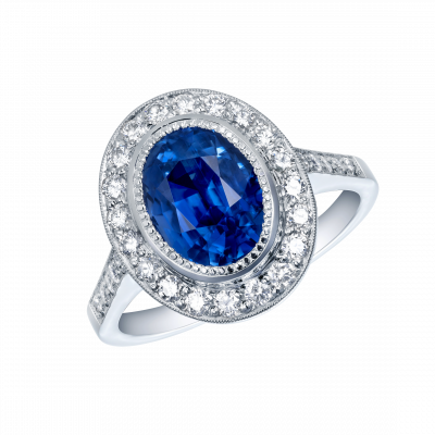 Regal Sapphire and Diamond Ring