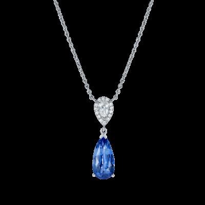 Burlington Sapphire and Diamond Pendant