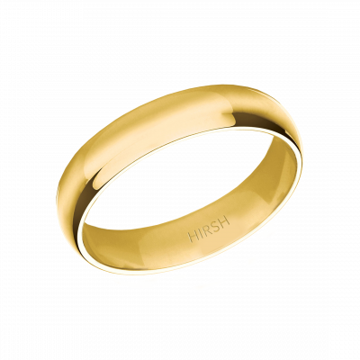 Yellow Gold Wedding Band 5mm