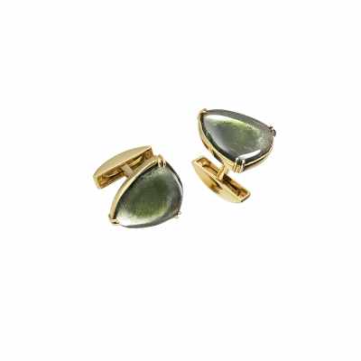 Unique-Links Bi-Colour Tourmaline Cufflinks