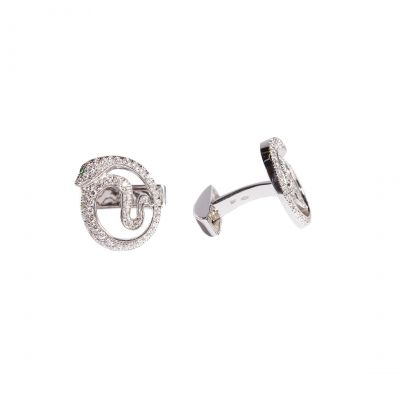 Basilisk Diamond Cufflinks