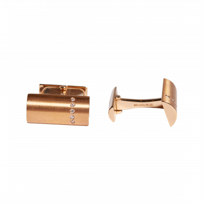 Diamond Cufflinks in Rose Gold