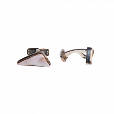 Unique-Link Boulder Opal Cufflinks