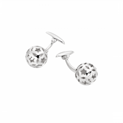 Celestial Cufflinks in White Gold
