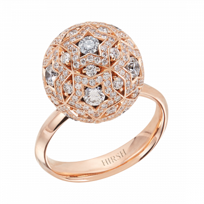Celestial Pegasus Diamond and Rose Gold Ring