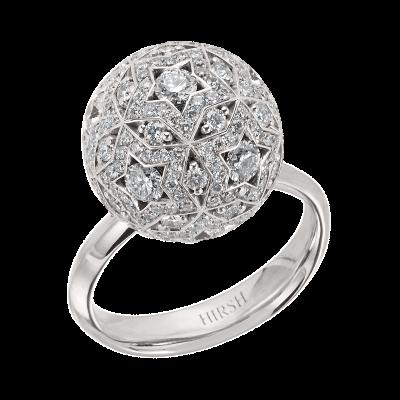 Celestial Pegasus Diamond and White Gold Ring