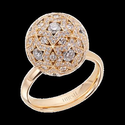 Celestial Pegasus Diamond and Yellow Gold Ring