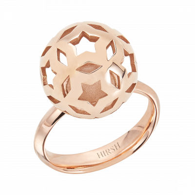 Celestial Lyra Rose Gold Ring