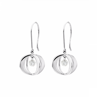 Cinderella Earrings in White Gold