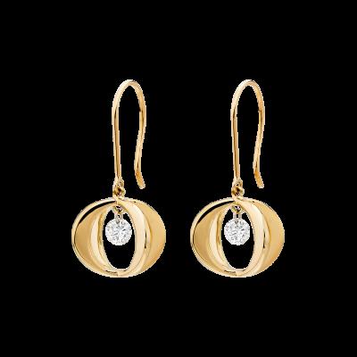 Rose Gold Cinderella Diamond Drop Earrings