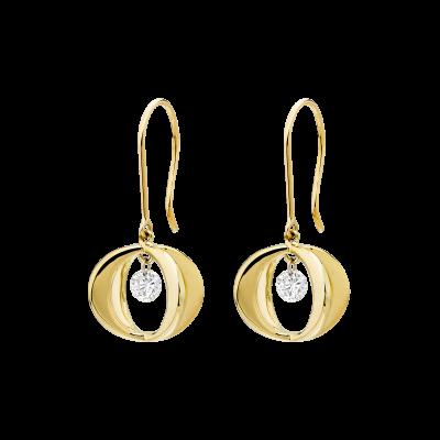 Yellow Gold Cinderella Diamond Drop Earrings