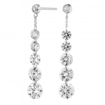 Suspense Diamond Drop Earrings 6.81 carats total