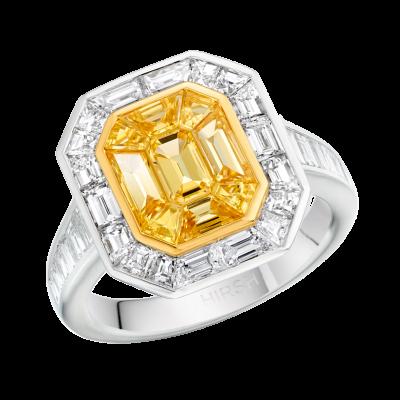 Large Yellow Sapphire Gatsby Ring