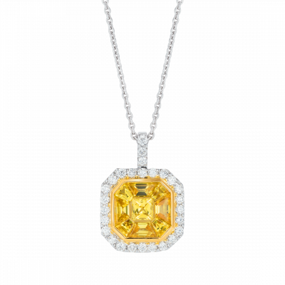 Yellow Sapphire Gatsby Pendant