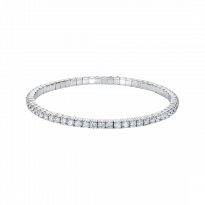 Large Advantage Bracelet in White Gold