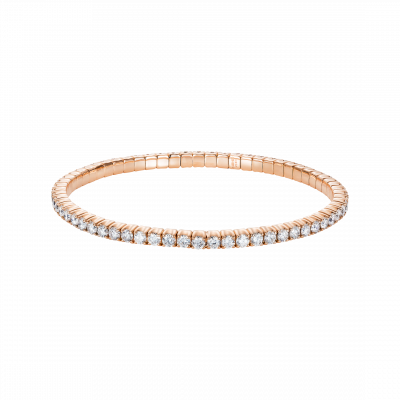 Large Diamond Advantage Bracelet in Rose Gold