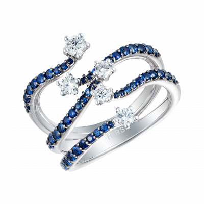 Large Starlight Blue Sapphire and Diamond Ring
