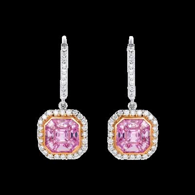Gatsby Pink Sapphire Earrings