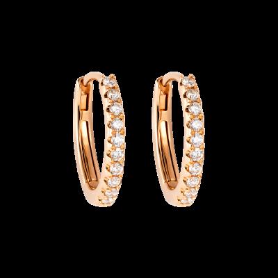 0.20 Carat Rose Gold and Diamond Hoop Earrings