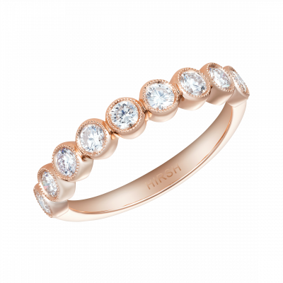 0.62 Carat Diamond and Rose Gold Lifetime Ring