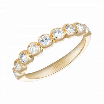 0.64 Carat Diamond and Yellow Gold Lifetime Ring