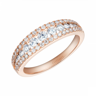 Rose Gold and Diamond Suspense Half Eternity Ring