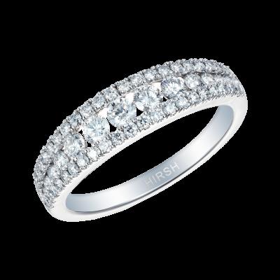 Platinum and Diamond Suspense Half Eternity Ring