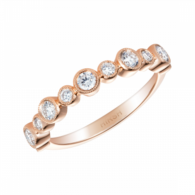 0.54 Carat Diamond and Rose Gold Lifetime Ring