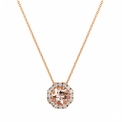 Morganite Regal Pendant