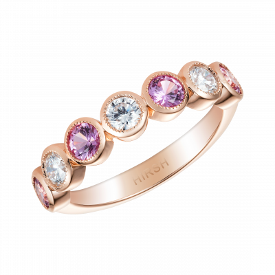 Pink Sapphire and Diamond Lifetime Ring
