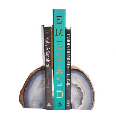 Natural Colour Agate Bookends