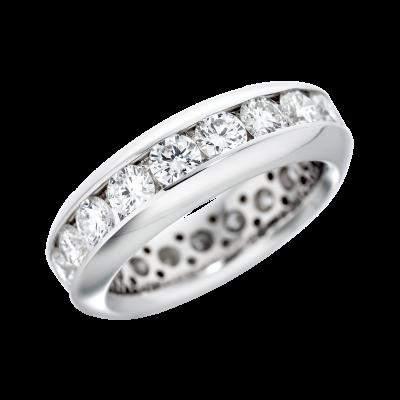 2.75 Carat Channel Set Diamond Eternity Ring