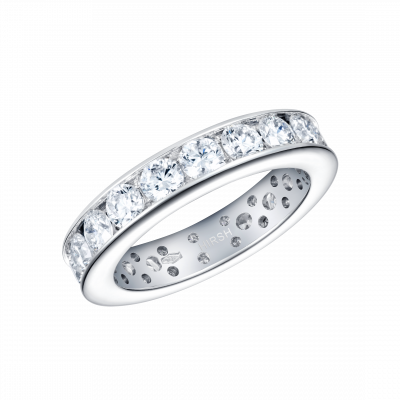 Eternity Ring with Channel Diamonds