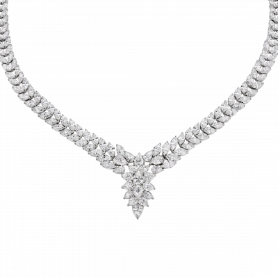 Grand Marquis Diamond Necklace