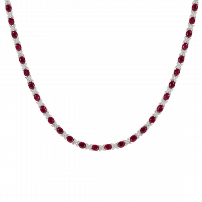 Kiss Ruby and Diamond Necklace
