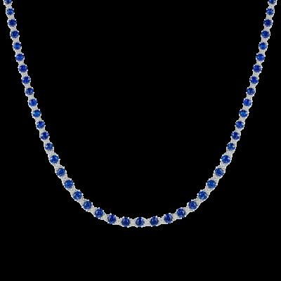 Petit Sapphire Kiss Necklace
