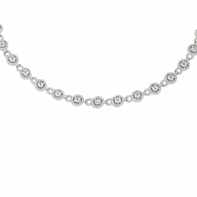 Round Diamond Regal Necklace