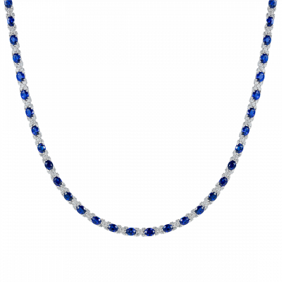 Sapphire Kiss Necklace