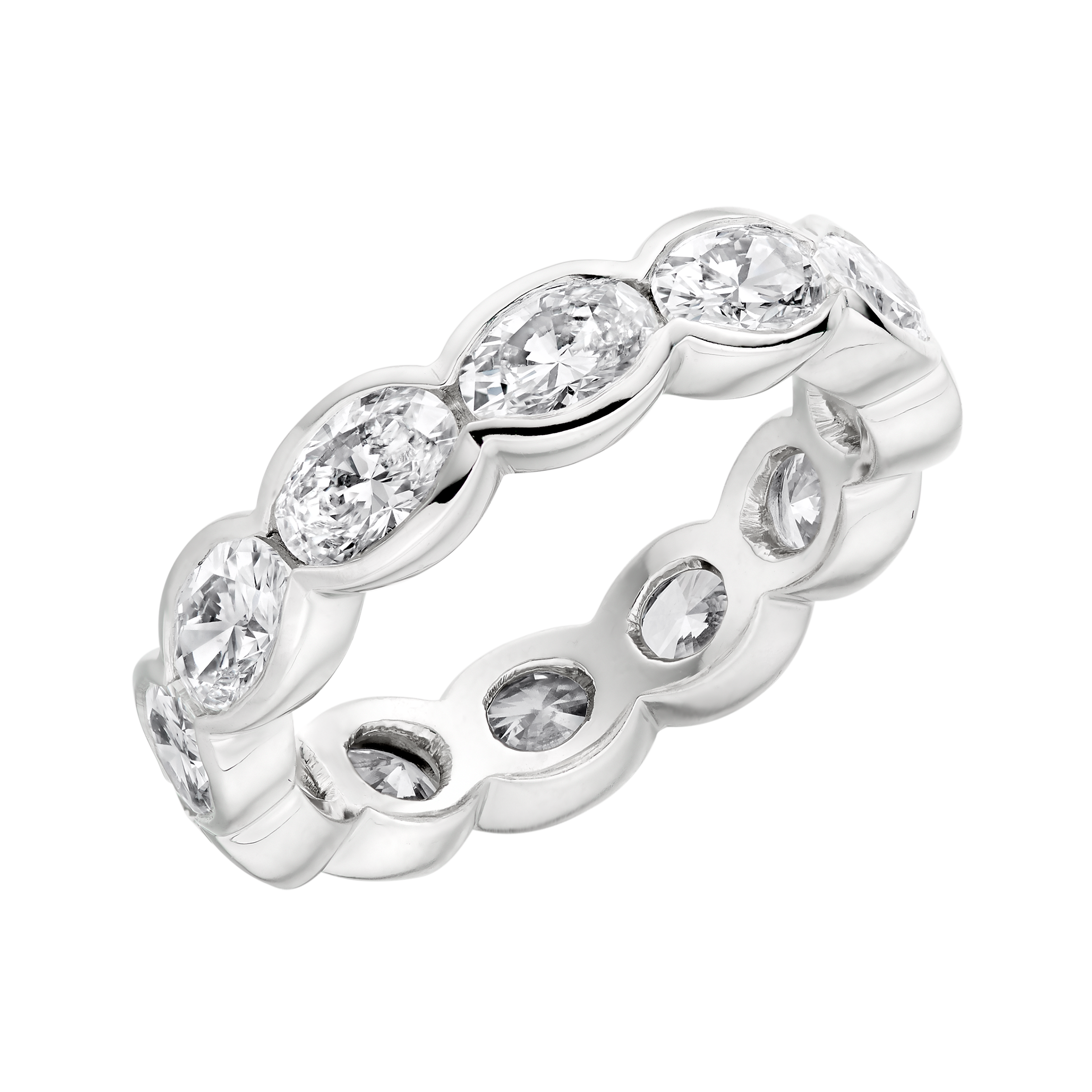 carat jewellery platinum and diamond cut princess rings baguette ring eternity