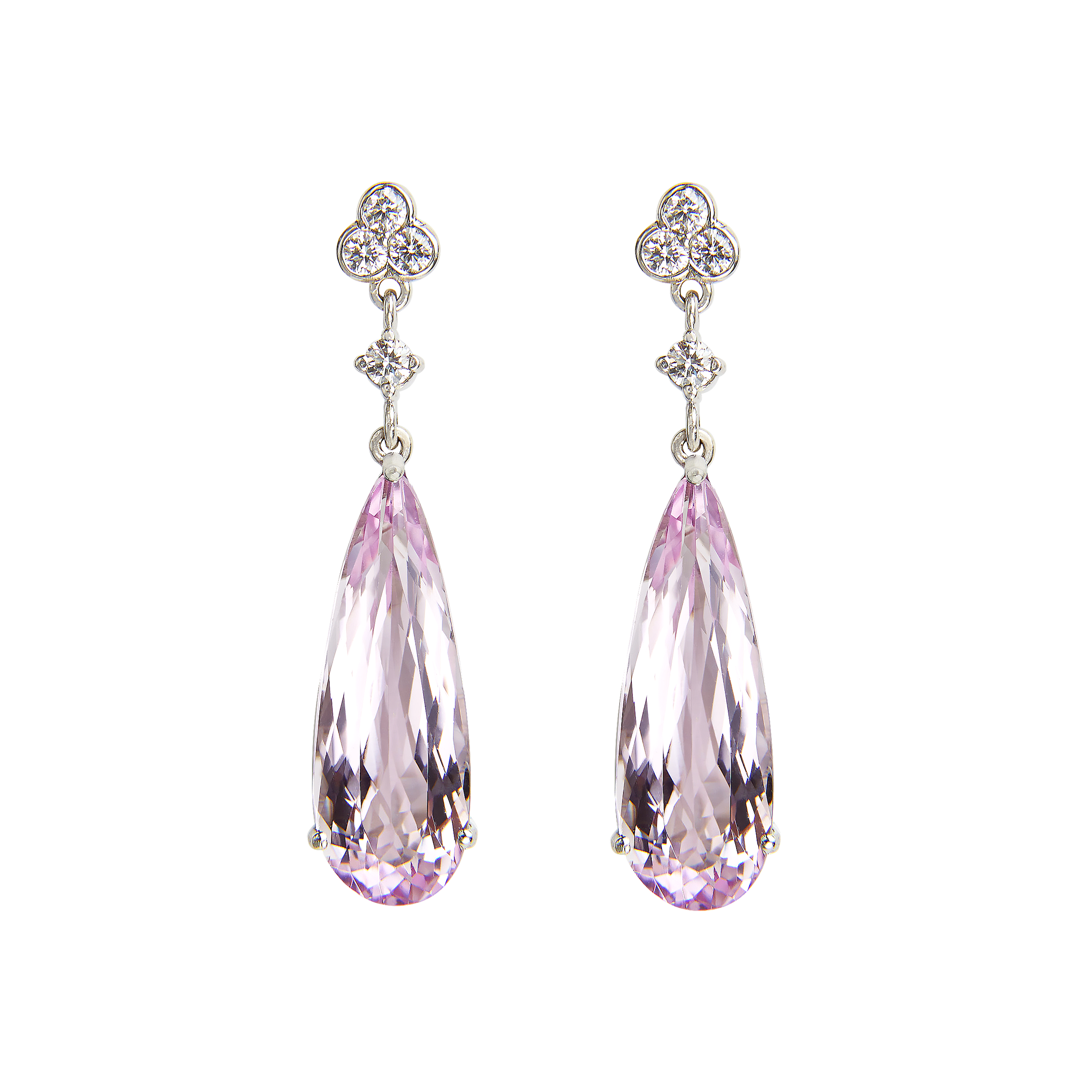 gem juwelo with gemstones earrings authentic com gems kunzite elegant