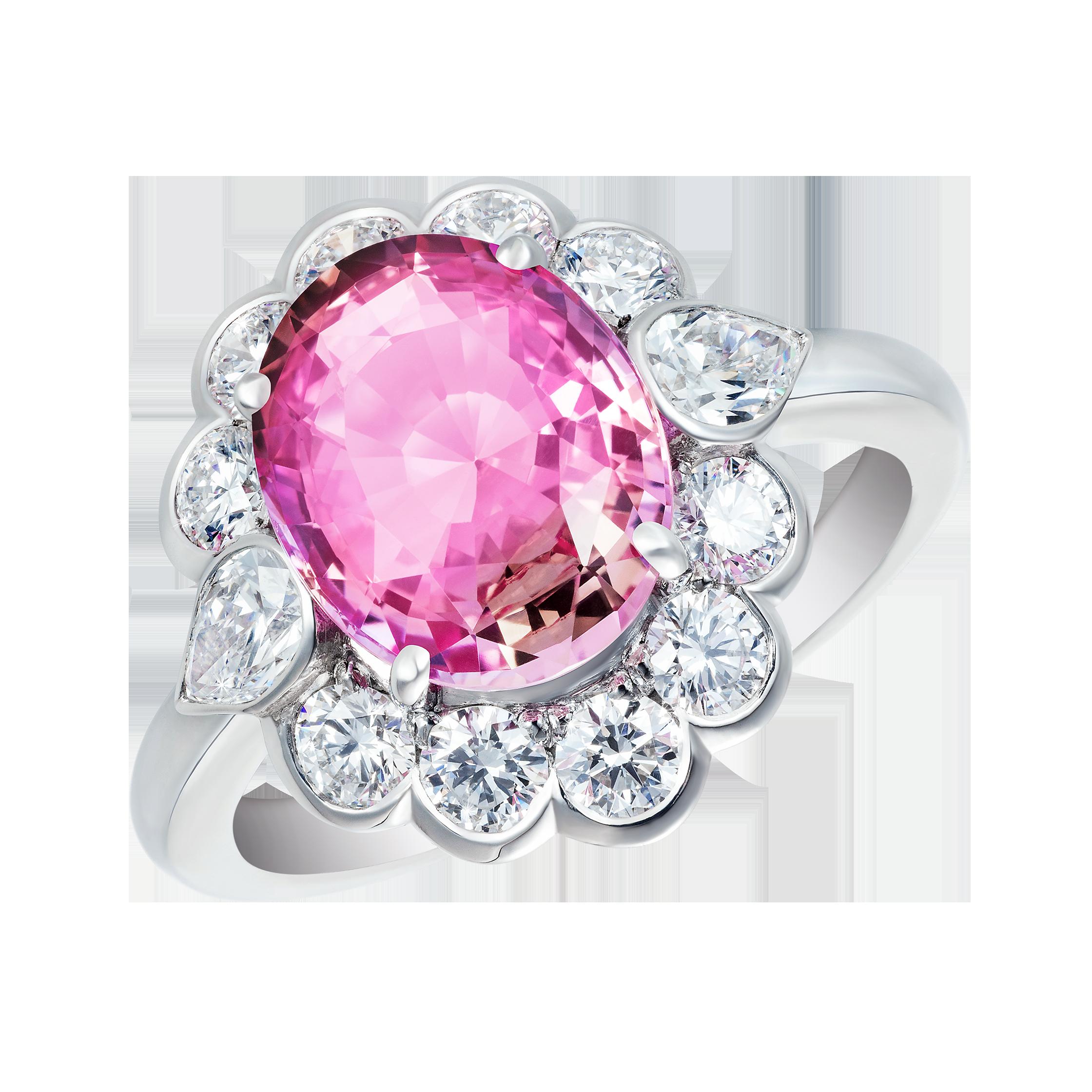 Princess Ring Padparadscha Sapphire